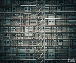 Puzzle Échafaudage de façade
