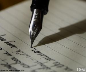 Puzzle Écrire avec un stylo-plume