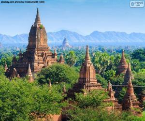 Puzzle Édifices religieux de Bagan, Myanmar