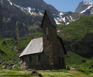 Puzzle Église de haute montagne, Suisse