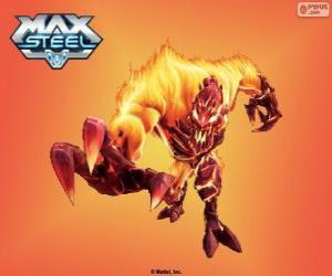 Puzzle Élémentor Feu, Max Steel