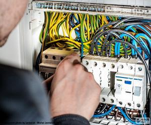 Puzzle Électricien, tableau électrique