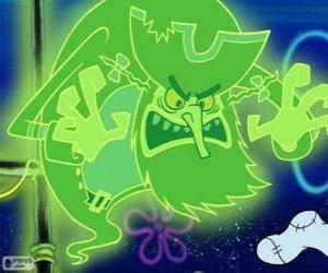 Puzzle Le Vaisseau fantôme est un pirate fantôme qui vit sous l'eau dans un bateau