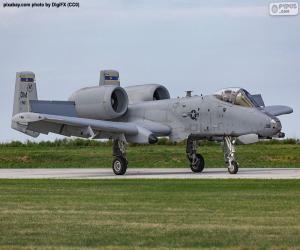 Puzzle A-10A Thunderbolt II