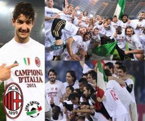 Puzzle AC Milan, champion de la Ligue italienne de football - Lega Calcio 2010-11
