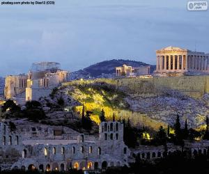 Puzzle Acropole d'Athènes, Grèce