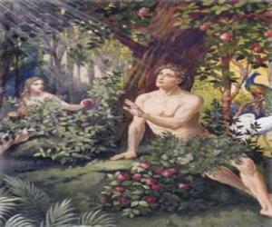 Puzzle Adam et Eve au paradis