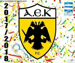 Puzzle AEK Athènes F.C., Super Lig 2017-18