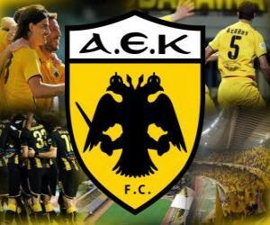 Puzzle AEK Athens FC, club grec de football
