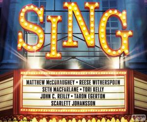 Puzzle Affiche de Sing
