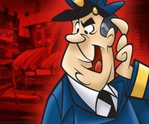 Puzzle Agent Crampon, le policier qui s'occupe de la ruelle de Top Cat et son gang