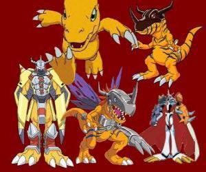 Puzzle Agumon est l'un des principaux Digimon. Agumon est un digimon très courageux et amusant