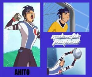 Puzzle Ahito est le gardien de l'équipe de football galactique Snow Kids avec numéro 1