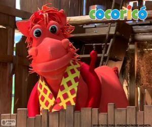 Puzzle Alípio, élégant cheval de la ferme Cocoricó