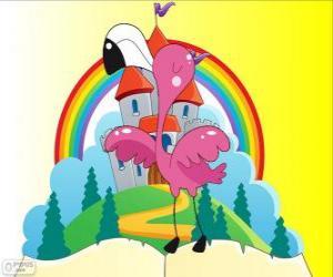 Puzzle Alice joue croquet avec un flamant rose