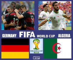 Puzzle Allemagne - Algérie, huitième de finale, Brésil 2014