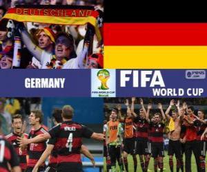 Puzzle Allemagne célèbre sa classification, Brésil 2014