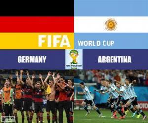 Puzzle Allemagne vs Argentine. Finale de Coupe du Monde FIFA Brésil 2014
