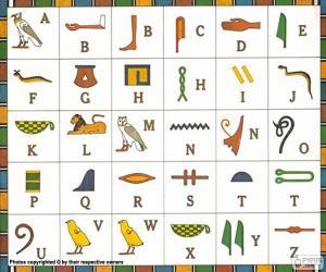 Puzzle Alphabet égyptien