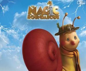Puzzle Ambroise l'escargot, un personnage de Pollux, le manège enchanté