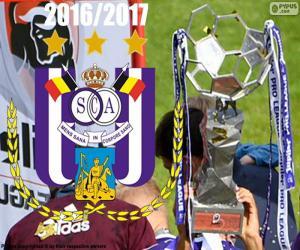 Puzzle Anderlecht, champion 2016-2017