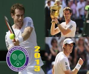 Puzzle Andy Murray Champion de Wimbledon 2013