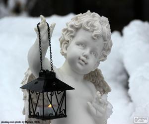 Puzzle Ange avec lanterne