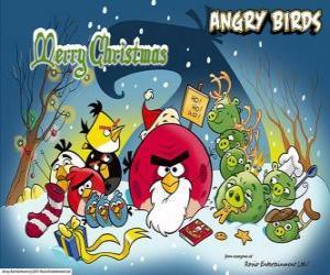 Puzzle Angry Birds en vous souhaitant un Joyeux Noël