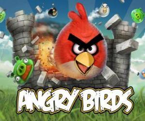 Puzzle Angry Birds est un jeu vidéo de Rovio. Les oiseaux en colère attaquent les cochons qui volent les œufs
