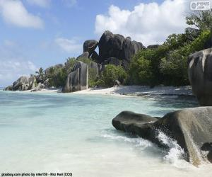Puzzle Anse Source d'argent, Seychelles