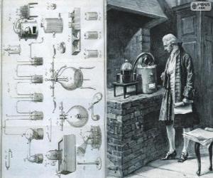 Puzzle Antoine Lavoisier (1743-1794), chimiste français, considéré comme le créateur de la chimie moderne