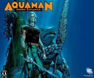 Puzzle Aquaman a été l'un des membres fondateurs de l'équipe de la Ligue de Justice d'Amérique ou JLA