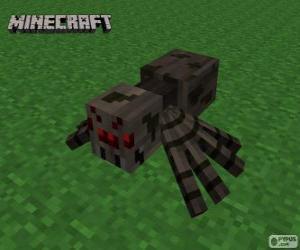 Puzzle Araignée, une des créatures de Minecraft
