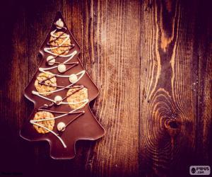 Puzzle Arbre chocolat, Noël