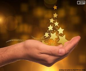 Puzzle Arbre de Noël, étoiles