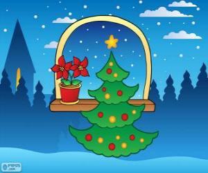 Puzzle Arbre de Noël décoré