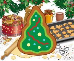 Puzzle Arbre de Noël, un biscuit de Noël