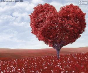 Puzzle Arbre forme de coeur