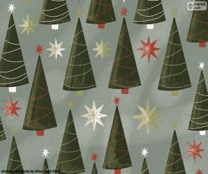 Puzzle Arbres et étoiles de Noël