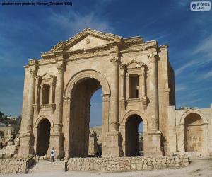 Puzzle Arche d'Hadrien, Jordanie