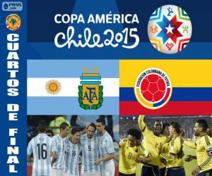 Puzzle ARG - COL, Copa America 2015