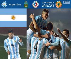 Puzzle ARG finaliste, Copa America 2015