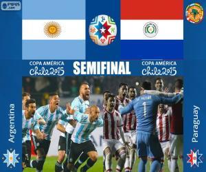 Puzzle ARG - PAR, Copa America 2015