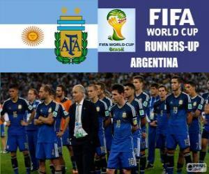 Puzzle Argentine, 2e au classement du Coupe du monde de Football Brésil 2014