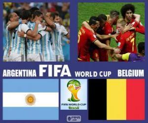 Puzzle Argentine - Belgique, quarts de finale, Brésil 2014