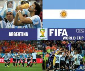 Puzzle Argentine célèbre sa classification, Brésil 2014