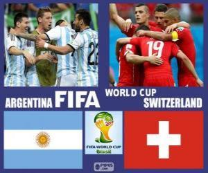Puzzle Argentine - Suisse, huitième de finale, Brésil 2014