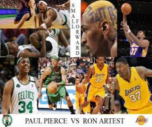 Puzzle Artest NBA final 2009-10, Ailier, Pierce Paul (Celtics) vs Ron (Lakers)