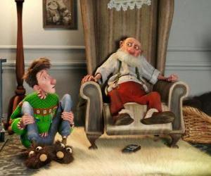 Puzzle Arthur Noël avec son grand-père.