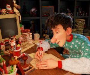 Puzzle Arthur Noël, chargée de répondre aux lettres de tous les enfants du monde